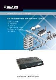 xdsl Produkte und Know How vom Experten