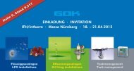 EINLADUNG · INVITATION IFH/Intherm · Messe Nürnberg · 18 ...