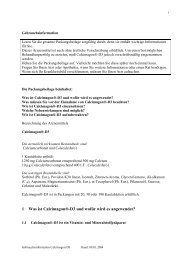 1 Was ist Calcimagon®-D3 und wofür wird es angewendet? - Meine ...