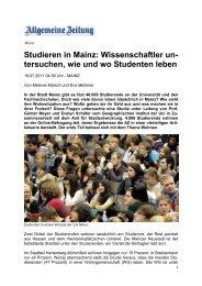 Studieren in Mainz - Geographisches Institut