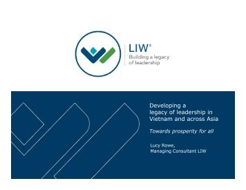 Developing a legacy of leadership in Vietnam and across Asia
