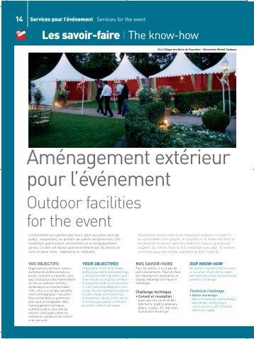 Aménagement extérieur pour l'événement - GL events