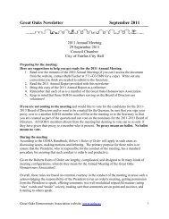 Great Oaks Newsletter September 2011 - Goha.us