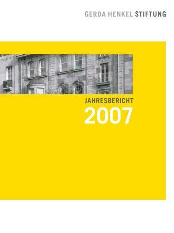 JAHRESBERICHT - Gerda Henkel Stiftung