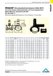 FRIALEN®-Druckanbohrarmaturen DAA (KIT)