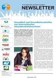 Newsletter November 2012 - Gesunde Schule