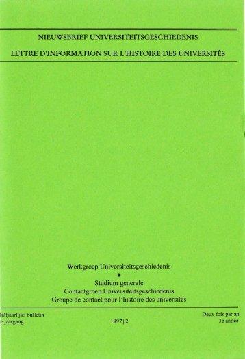 Jaargang / Année 3, 1997, nr. 2 - Gewina