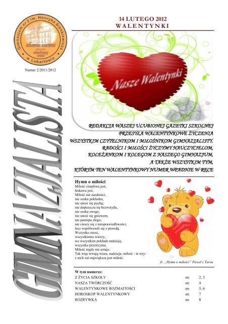 14 Lutego 2012 Walentynki Gimnazjum Nr 2 Im Henryka