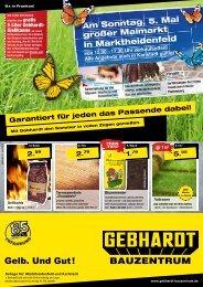 Garantiert für jeden das Passende dabei! - Gebhardt Bauzentrum