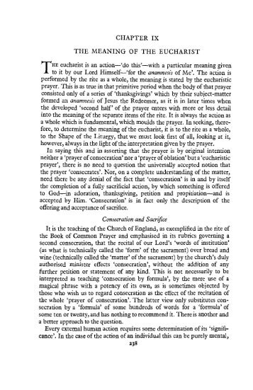 The Meaning of the Eucharist