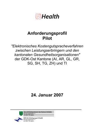 Anforderungsprofil Pilot 24. Januar 2007