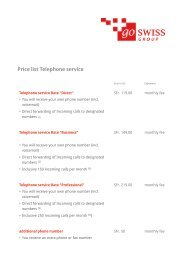Download price list - go swiss Group AG