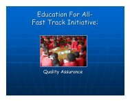 Education For All- Fast Track Initiative: - Global Partnership for ...