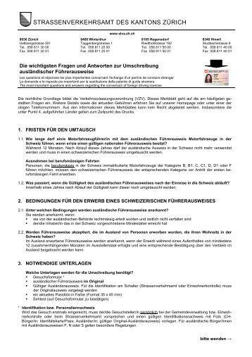 STRASSENVERKEHRSAMT DES KANTONS ZÜRICH - Geroldswil
