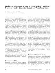 Review of Greenland Avtivities 2001 - Geological correlation ... - GEUS