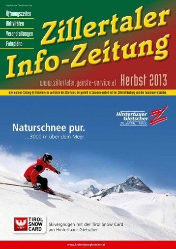 Zillertaler Infozeitung Herbst 2013