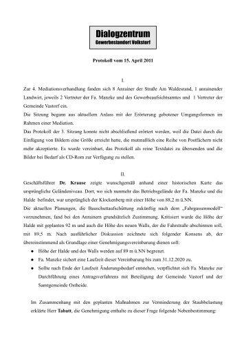 4. Dialogforum Protokoll.PDF - Vastorf