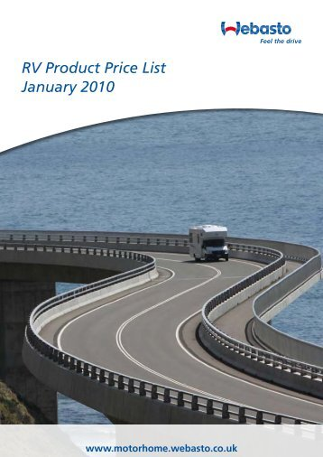 RV Product Price List January 2010 - Giordano Benicchi