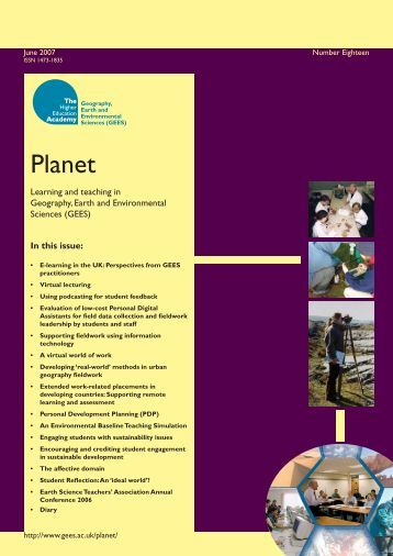 Cover of Planet - Issue 18 (PDF file 0.2mb) - GEES Subject Centre ...