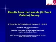 Results from the Lambda (M-Track Ontario) Survey - GMSH