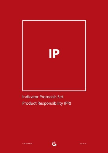 Indicator Protocols Set Product Responsibility - Global Reporting ...