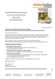 bauhofLeiter - Bayerische Gemeindezeitung
