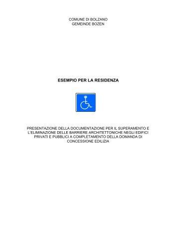 ESEMPIO PER LA RESIDENZA - Comune di Bolzano