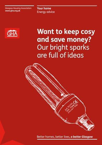 Save energy leaflet - Glasgow Housing Association