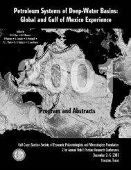 Petroleum Systems of Deep-Water Basins - Gulf Coast Section SEPM