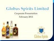 Corporate Presentation - Globus Spirits