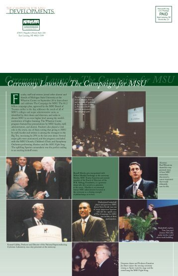 Dev. faculty - Giving to MSU - Michigan State University