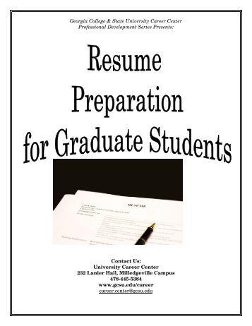 Preparing your cv resume