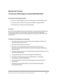 Statuten des Vereins - Gemeinwohl-Ökonomie