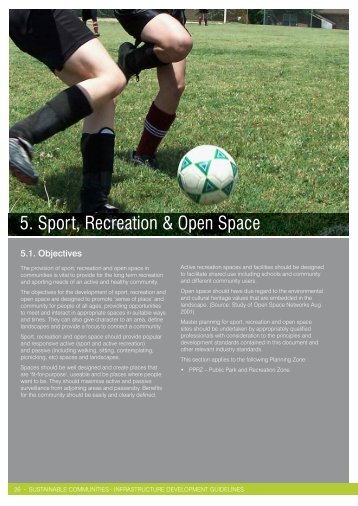 5. Sport, Recreation & Open Space - City of Greater Geelong