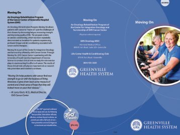 Download our Brochure - Greenville Hospital System