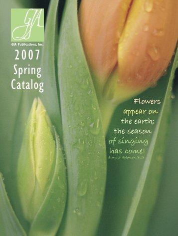 2007 Spring Catalog - GIA Publications
