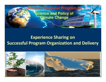GDLN regional program on Science and Policy of Climate Change