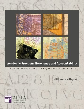 2010 Annual Report - The American Council of Trustees and Alumni
