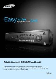 Digitální videorekordér SVR-940/450 Návod k použití - GEMTECH