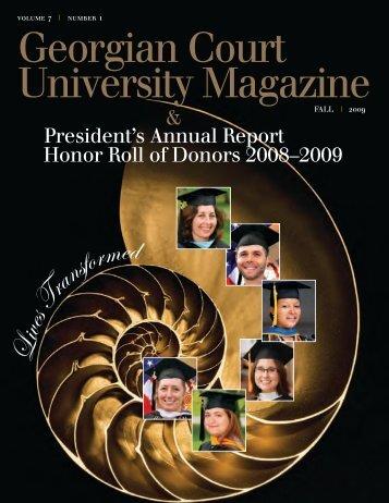 Georgian Court University Magazine