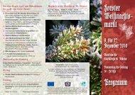 Forster Weihnachts- markt Programm - Gewerbeverein Forst