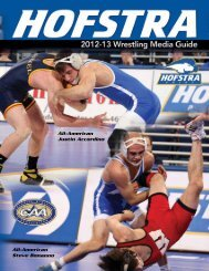 All-American Justin Accordino All-American Steve ... - GoHofstra.com