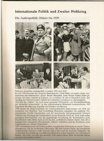 Internationale Politik und Zweiter Weltkrieg