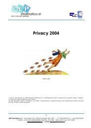 Legge Privacy OTT - GEP Informatica Srl