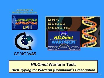 Warfarin DNA Typing System for DNA-Guided Warfarin Management