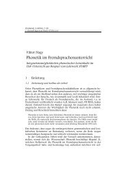 Phonetik im Fremdsprachenunterricht - WERKSTATT