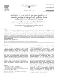 Application of image analysis and image simulation for quantitative ...