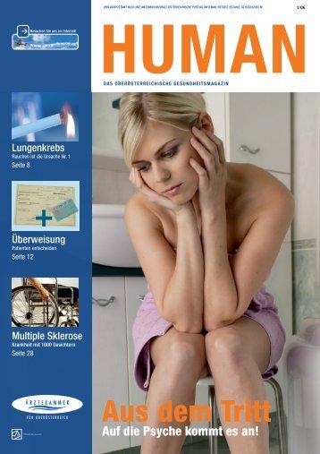 HUMAN Ausgabe 01/2006 - gesund-in-ooe.at