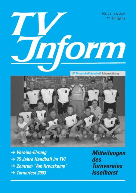 Turnerfest 2003 - Turnverein Isselhorst v. 1894 eV