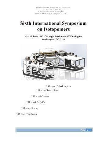Sixth International Symposium on Isotopomers - Geophysical ...